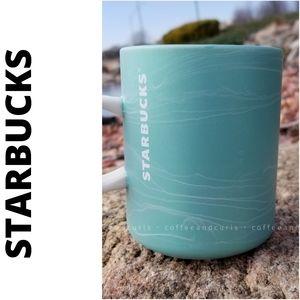 Starbucks 2020 Marbled Ceramic Cup Seafoam 12oz
